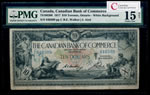 The Canadian Bank of Commerce $10 1917 White background PMG F-15
