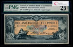 The Canadian Bank of Commerce $10 1917 Large Logan, r. PMG VF-25