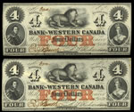 The Western Bank of Canada $4 1859 Richardson, r. MS-60