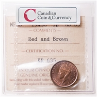 NFLD 1 cent 1943C  ICCS MS-63
