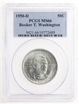 USA 50c 1950D Booker T. Washington Memorial Commemorative PCGS MS-66