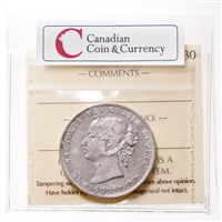 NFLD  50 cent 1888  ICCS VF-30