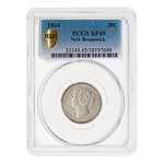 NB 20 cent 1864  PCGS EF-45