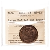 NS 1 cent 1861 Large Bud ICCS MS-62