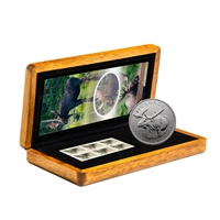 2012 $5 Moose - 1 oz. Pure Silver Coin and Stamp Set