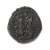 Byzantine Follis Justin II and Sophia 575 AD VF-20