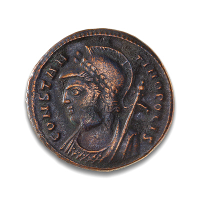 Ancient Rome AE3 Constantine I, 'The Great' 307 AD Constantinople Commemorative EF-40