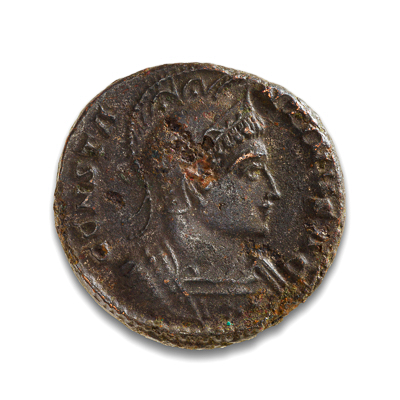 Ancient Rome AE3 Constantine II 337 AD EF-40