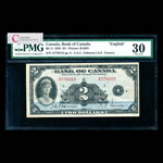 $2 1935 English BC-3 Osborne-Towers Series A Prefix A PMG VF-30
