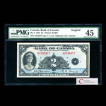 $2 1935 BC-3 English Osborne-Towers Series A Prefix A PMG EF-45