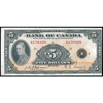 $5 1935 English BC-5 Osborne-Towers Series A EF-40