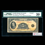 $5 1935 French BC-6 French Osborne-Towers Series F Prefix F PMG VF-30