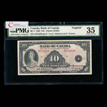 $10 1935 English BC-7 English Osborne-Towers Series A Prefix A PMG VF-35