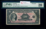 $20 1935 French BC-10 French Osborne-Towers Series F Prefix F PMG VF-20