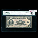 $100 1935  BC-15 English Osborne-Towers Series A Prefix A PMG VF-30