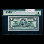 $1 1937 BC-21c Gordon-Towers Wide Signature Panel Series F Prefix F/M PMG CUNC-64