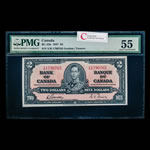 $2 1937 BC-22b Gordon-Towers Series X Prefix X/B PMG AU-55