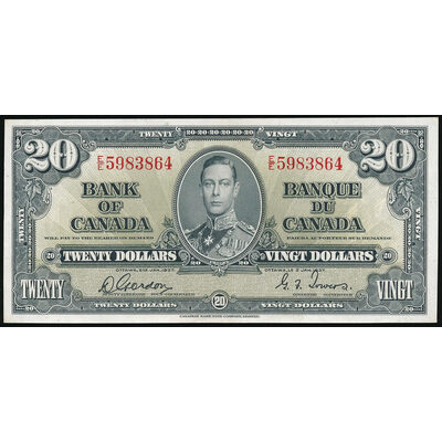 $20 1937 BC-25b Gordon-Towers Prefix E/E AU-55