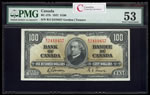 $100 1937 BC-27b Gordon-Towers Series B Prefix B/J PMG AU-53