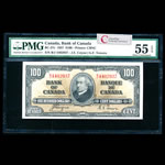 $100 1937 BC-27c Coyne-Towers B/J Coyne-Towers Series B PMG AU-55