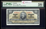 $100 1937 BC-27c Gordon-Towers B/J Series C PMG AU-58