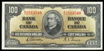 $100 1937 BC-27b Gordon-Towers Prefix B/J AU-55