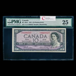 $10 1954 Replacement BC-40bA Beattie-Rasminsky *U/T Beattie-Rasminsky Series *U Prefix *U/T PMG VF-25