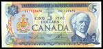 $5 1972 BC-48b Lawson-Bouey; 2 letter Series A CUNC-63
