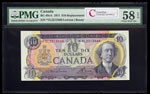 $10 1971 Replacement BC-49cA Lawson-Bouey; Series L Prefix *VL PMG AU-5