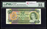 $20 1969 Replacement BC-50aA Beattie-Rasminsky; Series A Prefix *EA PMG AU-55