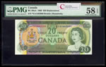 $20 1969 Replacement BC-50aA Beattie-Rasminsky; Series A Prefix *EA PMG AU-58