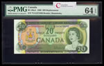 $20 1969 Replacement BC-50aA Beattie-Rasminsky; Series A Prefix *EA PMG CUNC-64