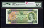 $20 1969 Replacement BC-50aA Beattie-Rasminsky; Series B Prefix *EB PMG GUNC-65