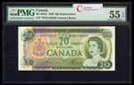 $20 1969 Replacement BC-50bA Lawson-Bouey; Series N Prefix *WN PMG AU-55