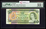 $20 1969 Replacement BC-50bA Lawson-Bouey; Series V Prefix *WV PMG AU-55
