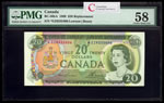 $20 1969 Replacement BC-50bA Lawson-Bouey Series Z Prefix *EZ PMG AU-58