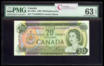 $20 1969 Replacement BC-50bA Lawson-Bouey; Series A Prefix *YA PMG CUNC-63