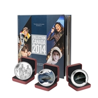 2014 Canada Post Annual Collection Stamp Set & Collector Coins