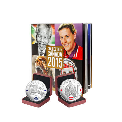 2015 Canada Post Annual Collection Stamp Set & Collector Coins - Collection 3