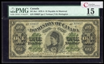 $1 1878 DC-8e-I  Lettered Border; Montreal ms. Various-Harington Series A PMG F-15