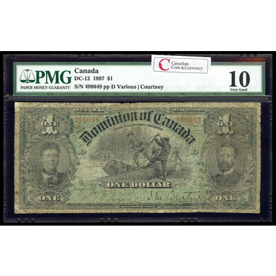 $1 1897 DC-12 Ms. Various-Courtney Series Plain PMG VG-10