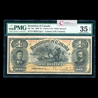 $1 1898 DC-13a Courtney, ONEs inward Ms. Various-Courtney Series C PMG VF-35