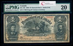 $1 1898 DC-13b Courtney, ONEs outward ms. Various-Courtney Series J PMG VF-20
