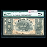 $1 1898 DC-13b Courtney, ONEs outward Ms. Various-Courtney Series D PMG VF-25
