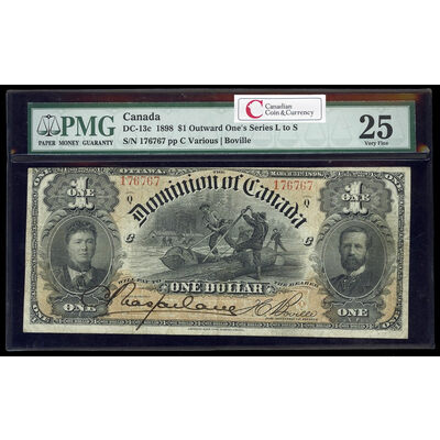 $1 1898 DC-13c ONEs outward Ms. Various-Boville Series Q PMG VF-25