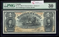 $1 1898 DC-13c Boville, ONEs outward Series O VF-30