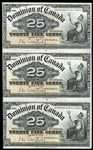 25 cent 1900 DC-15a Courtney; Part sheet of 3 Courtney  F-15