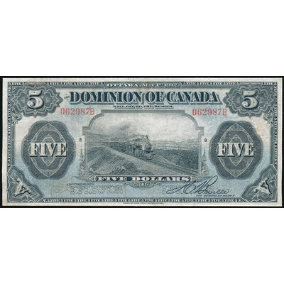 $5 1912 DC-21b No seal, Boville, r. Series B VF-20