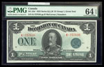 $1 1923 DC-25d McCavour-Saunders, Green seal, Group 1 Series K Prefix K PMG CUNC-64