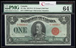 $1 1923 DC-25g McCavour-Saunders, Red seal.  Group 2. Series Y Prefix Y PMG CUNC-64